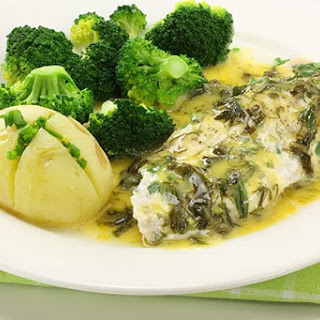 Baked Fish with Lemon Sauce