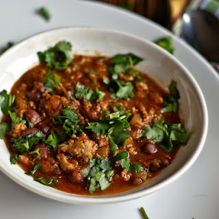 Chili with Pork and Mushrooms