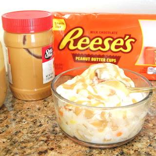 No-Churn Caramel-Reese's Ice Cream