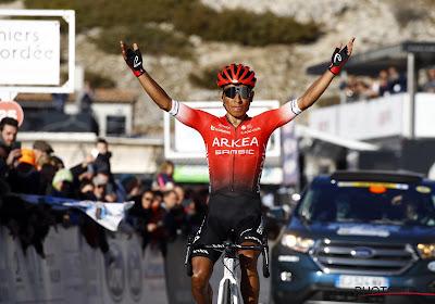 """Nairo Quintana blij met derde plaats in Tour de l'Ain: """"Ik heb tegen de beste klassementsrenners moeten rijden"""""""