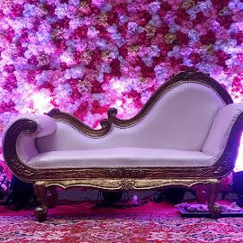 Elegant and decorative sofa set by Sandeep Karyakarte - Artistic Objects Furniture ( decorative, elegant, romantic, couple, sofaset )
