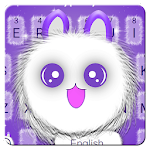 Blue Cute Fluffy Cat Keyboard Icon