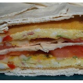 Breakfast Pita Sandwiches.