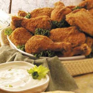 Picnic Chicken with Yogurt Dip.