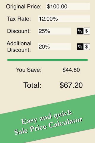Easy Sale Price Calculator