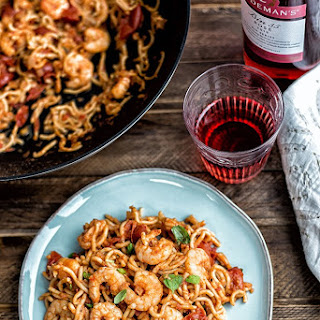 Five Minute Chilli Prawn Noodles