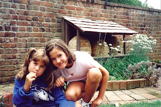 Photo: ...this one, taken in 1999, with Julie. Different skeps, younger girls.