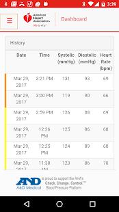 AHA BP Tracker - náhled