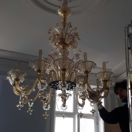 Maintenance, removal and placement of your chandeliers