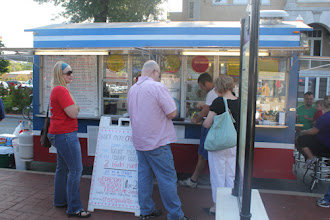 Photo: One of the biggest hits of downtown Bentonville - Crepes Paulette. They always have a line (for a good reason).