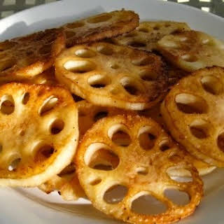 Oven Roasted Lotus Root.