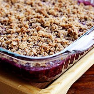 Almond Berry Crumble, Gluten Free.