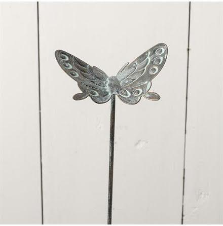 Fjäril, stick,  i metall 2-pack
