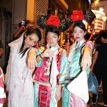 chinese girls at halloween street party in Hong Kong in Hong Kong, , Hong Kong SAR