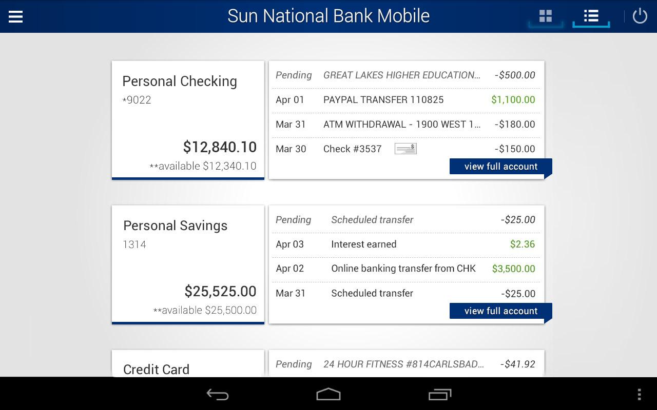 Sun National Bank- screenshot