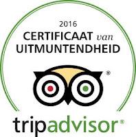 Spaans Dak Tripadvisor Certificat d'Excellence 2016 Tripadvisor