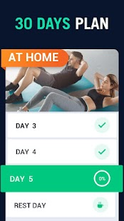 30 Day Fitness Challenge - Workout at Home Screenshot