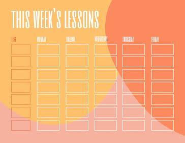 This Week - Planner template