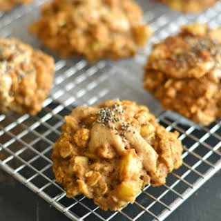 Apple Peanut Butter Cookies With Flax & Chia.