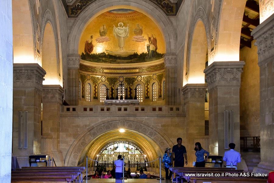 Крипта Базилики Преображения Господня, гора Тавор или Фавор. Экскурсия, Нижняя Галилея, Израиль.