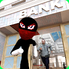 Stickman Bank Robbery Gangster Crime Thief icon