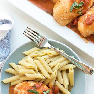 Slow Cooker Creamy Tomato Basil Chicken.