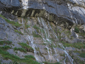 Photo: ... that flows entirely from a crack in the cliff above.