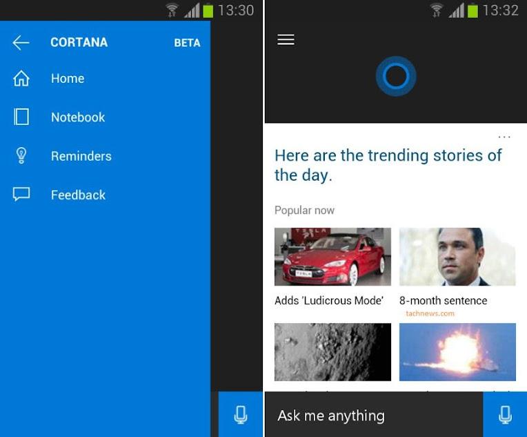 Cortana pentru Android a *scapat* pe internet