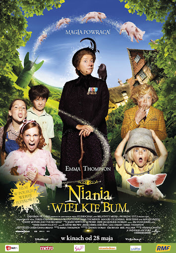 Polski plakat filmu 'Niania i Wielkie Bum'