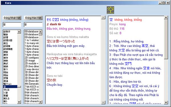từ điển Kara Nhật Việt