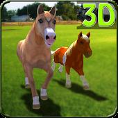 Pony Horses Green Hill Sim 3D