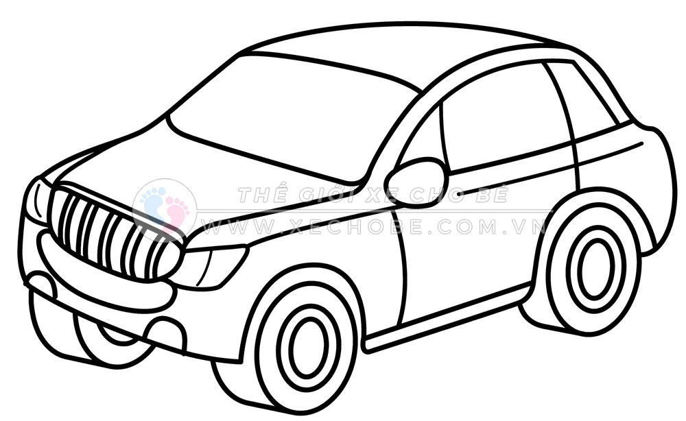 Tranh tô màu xe ô tô cho bé 10