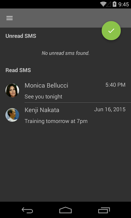 Reset Unread Sms- screenshot