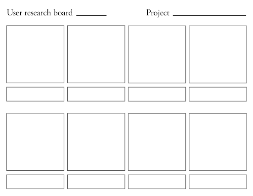 Scrap the user persona. Replace it with the storyboard.