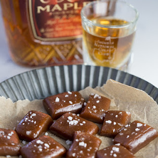 Salted Maple Whiskey Caramels