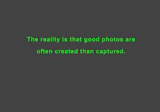 Photo: Amateurs FOOLISHLY believe that camera hardware is the magic behind good looking photos.