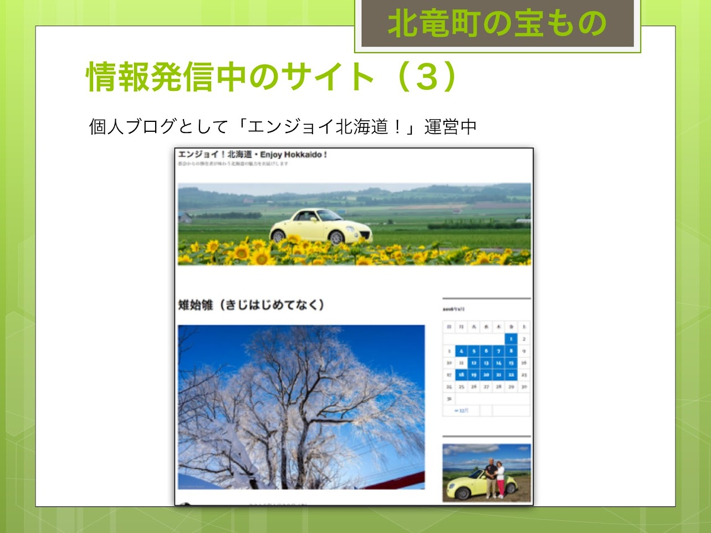 プライベートサイト:エンジョイ!北海道