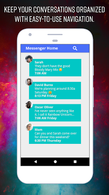 Messenger Home - Launcher with SMS Home Screen - screenshot