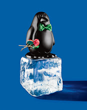 """Photo: DFC MEXICO CITY Exclusively ours. Black chalkboard penguin. 15.75"""" high. $450. Mexico. Seventh Floor. 212 872 2686"""