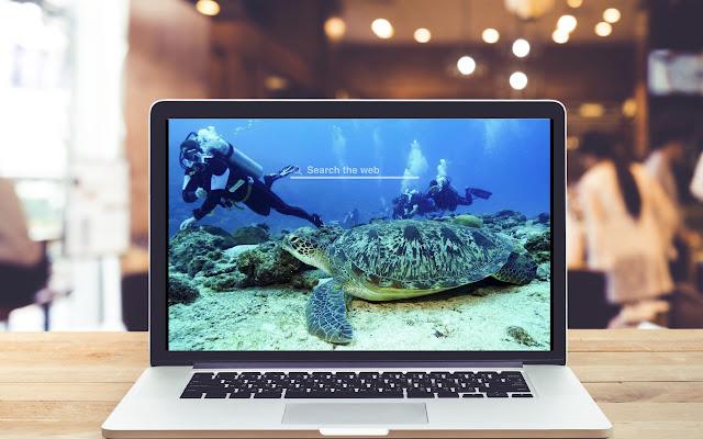 Scuba Diving New Tab Sports Theme