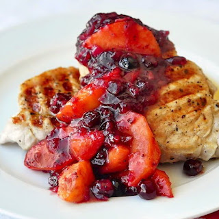 Pork Loin Chops with Cranberry Peach Chutney