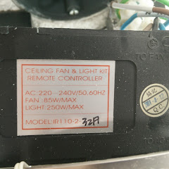 Bullit ceiling fan/light infra red receiver.