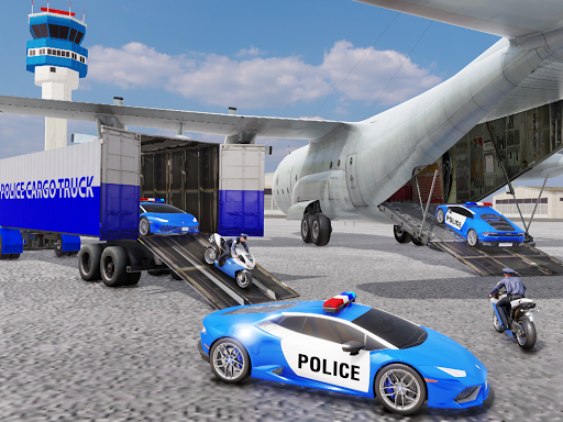 US Police Transporter Plane Simulator screenshot 12