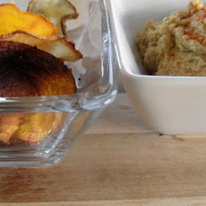 Fire-Roasted Jalapeño Hummus with Turnip and Beet Chips