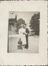 Photo: 6. Przed brzozdowieckim kościołem. Karola Suchorowski i Maria Mizgalewicz, żona Tadeusza (Edwarda) Suchorowskiego.  In front of the church and, apparently, the school.
