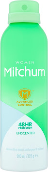 Mitchum Advanced Control Women 48hr Protection Anti-Perspirant and Deodorant - Unscented, 200ml
