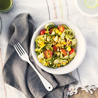 Zoodle Salad with Grilled Corn and Cherry Tomatoes