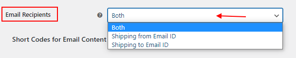 Shipping Calculator, Purchase Shipping Label & Tracking for Customers | Email Recipient settings