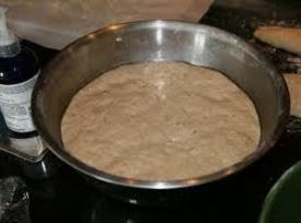 Place dough in greased bowl; turn greased side up.  Cover loosely with plastic...