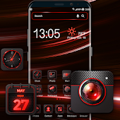 Red aurora Launcher theme for Apex&Ace